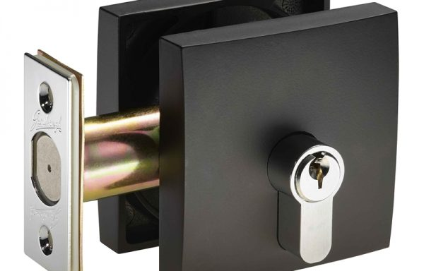 Square Deadbolt – Matt Black