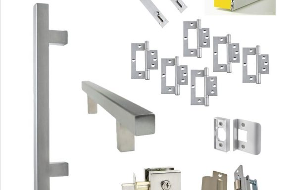 Square Pull Handle Kit 1 – Double Doors