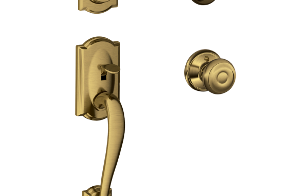 Camelot Entry Set with Georgian Knob – Single Cylinder AB