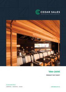 CEDAR SALES Expresswood Vee joint Fact Sheet