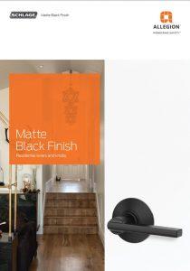 ALLE Matte Black Brochure Door Handle Hardware
