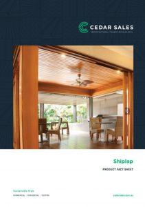 CEDAR SALES Shiplap Fact Sheet