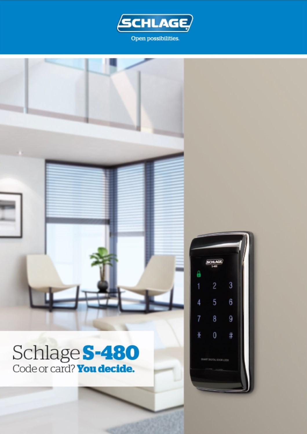 SCHLAGE S480 Electronic Locks Brochure