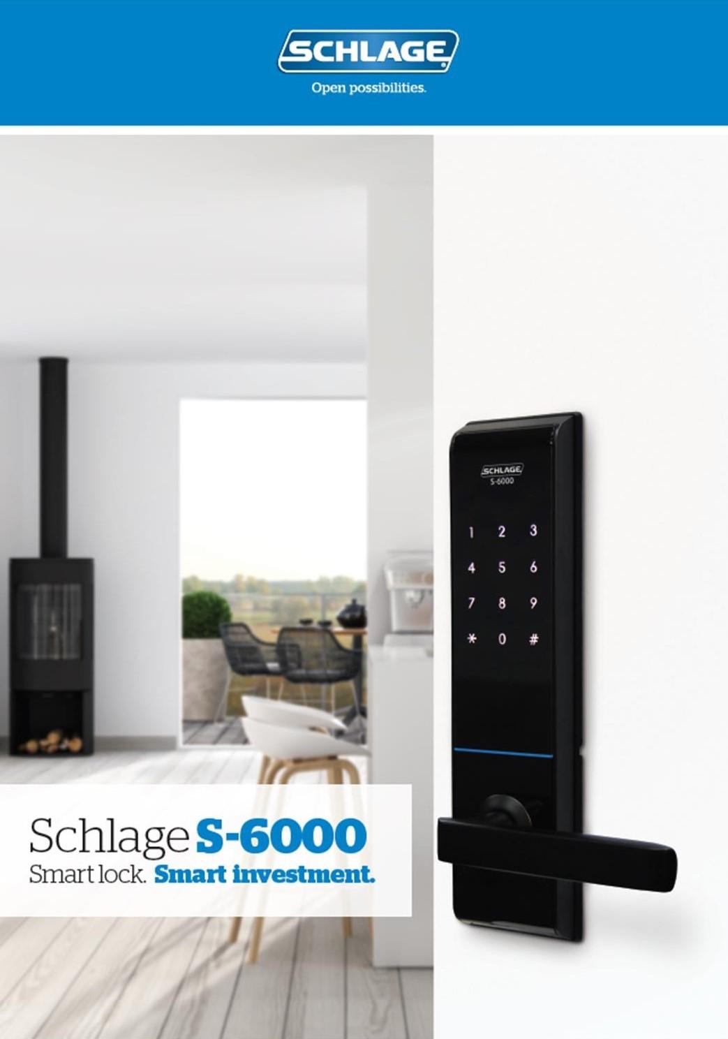 SCHLAGE S-6000 Electronic Smart Locks Brochure