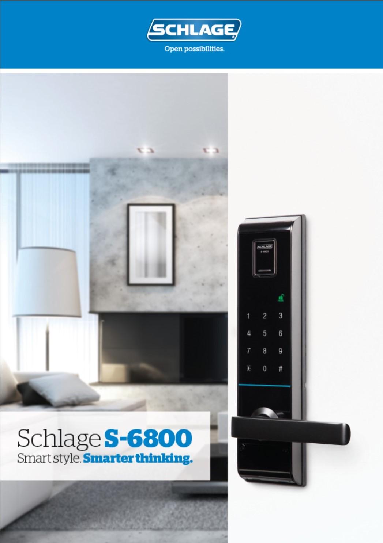 SCHLAGE S-6800 Electronic Smart Locks Brochure