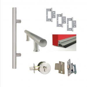 Single door kit - Pull Handle - Round