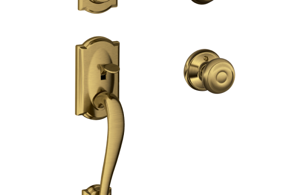 Camelot Entry Set with Georgian Knob – Double Cylinder PB