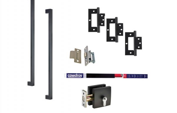 Square Pull Handle Kit – Matt Black