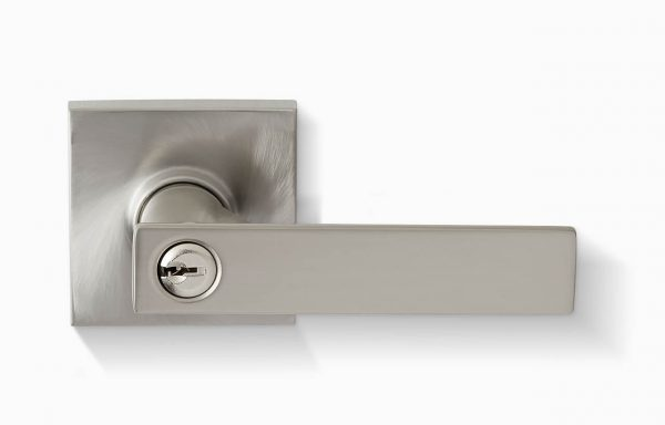 Porto Entry Lever – Square – Satin Chrome