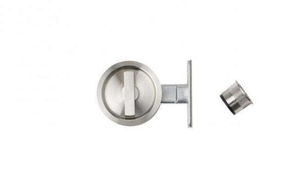 Flush Privacy Latch Round SS