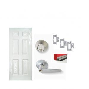 Fibreglass Door Satin Chrome Door Package 2