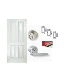 Fibreglass Door Satin Chrome Door Package