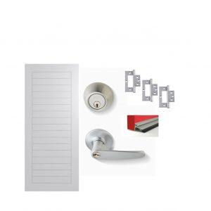 Fibreglass Door Satin Chrome Door Package 5