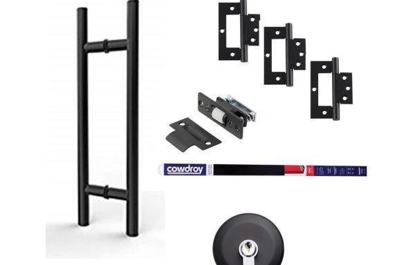 Round Pull Handle Kit – Matt Black