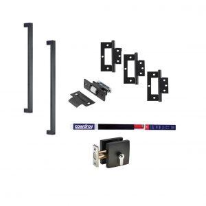 Matt Black Square Door Kit