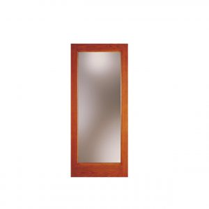 Woodgrain Glass Door